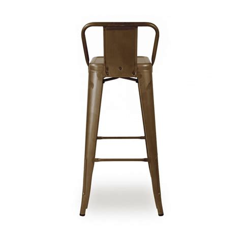 low bar stool chairs antique rusty industrial tolix low back bar stool
