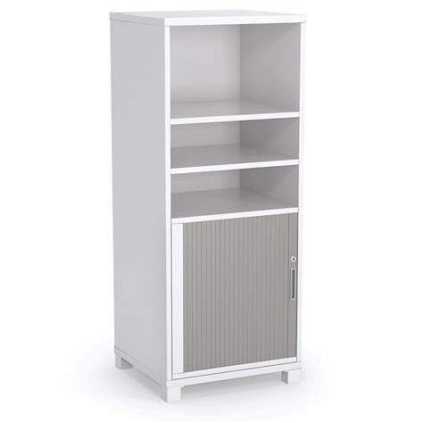 tower bookcase with tambour door office way