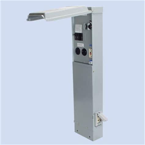 Rv Power Pedestals rv electrical pedestals surface boxes b b electrical