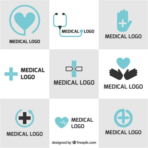 free logo design medical medical logo templates in flat design vector free download