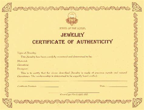 Artist certificate of authenticity template un mission resume authenticity certificate jewelry images yadclub Choice Image