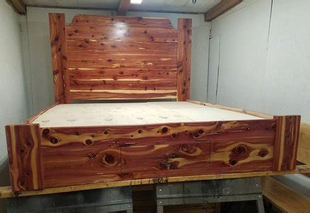 king size cedar bed frame cedar bed by monte pittman lumberjocks