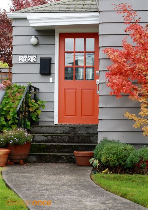 blue house orange door fabulously painted front doors dig this design