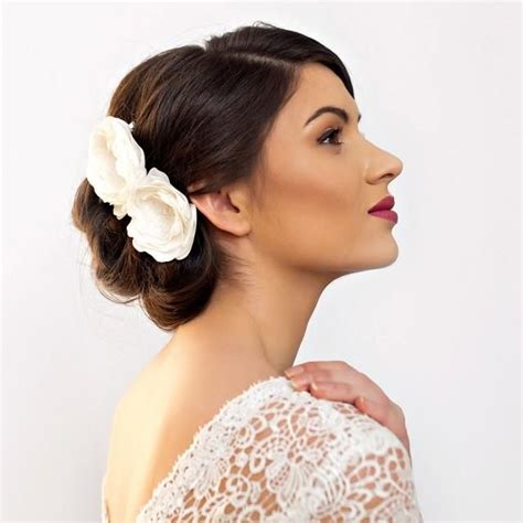Wedding Hair Flower With Netting by Bridal Flower Hair Accessories Www Imgkid The