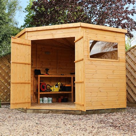 waltons tongue  groove garden storage corner shed