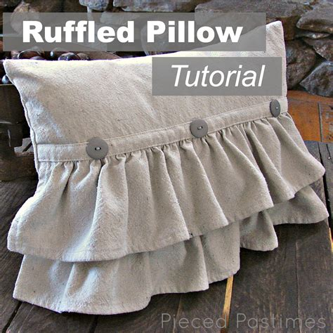 Ruffle Pillow Tutorial pieced pastimes ruffled pillow tutorial