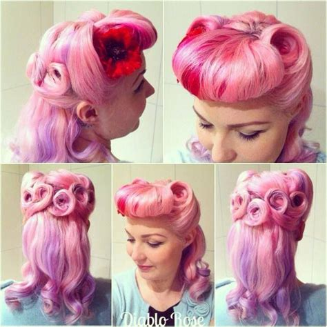 rockabilly bang curl 17 best images about vintage hairstyles on pinterest