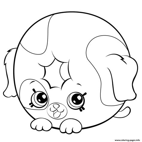 shopkins donut coloring page print cute donut dog printable shopkins season 5 coloring