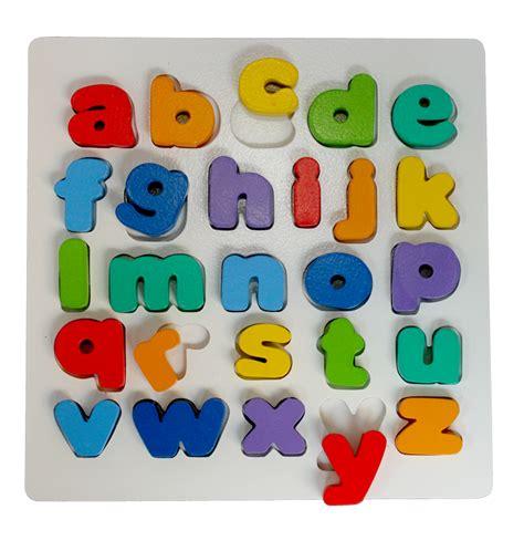 Buku Anak Mulai Mengenal Huruf Besar Dan Kecil puzzle chunky alphabet huruf kecil mainan kayu edukasi anak