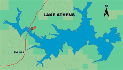 map of athens texas access to lake athens