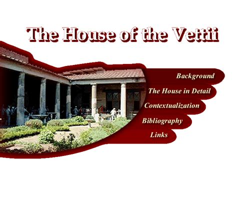 House Of The House House Of The Vettii Homepage