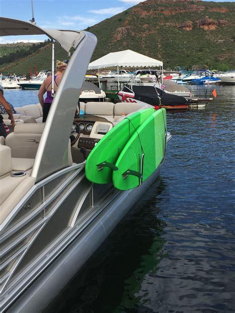 sup rack for pontoon boats storeyourboard