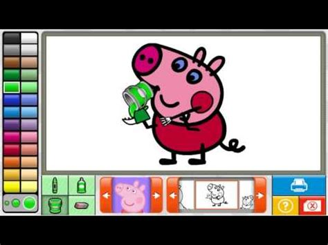 peppa pig episodes paint and colour peppa pig coloring pages