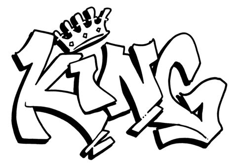 cool graffiti coloring pages king coloring pages