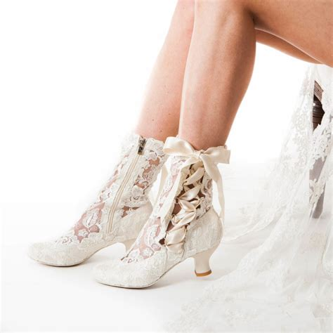 wedding boots for lizzie elliot ivory lace ankle boot house of elliot