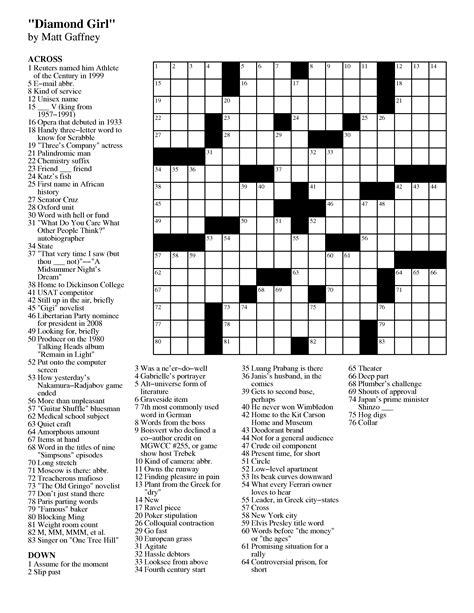 april  matt gaffneys weekly crossword contest