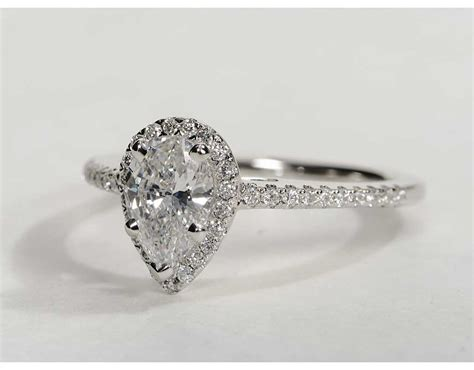 Pear Shaped Engagement Ring by Pear Shaped Halo Engagement Rings Wedding And Bridal