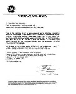 Warranty Certification Letter Letter Warranty Example 100 Cover Letter Examples