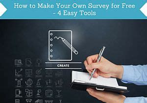 Create Own Survey - how to make your own survey for free 4 easy tools