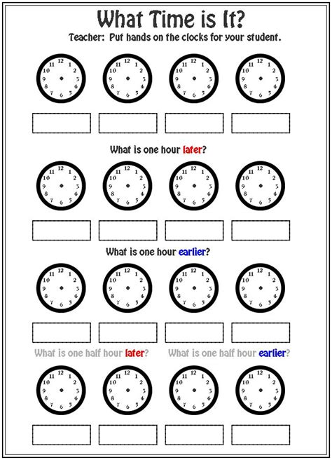 homeschool printable time sheets what time is it worksheet fun with math pinterest