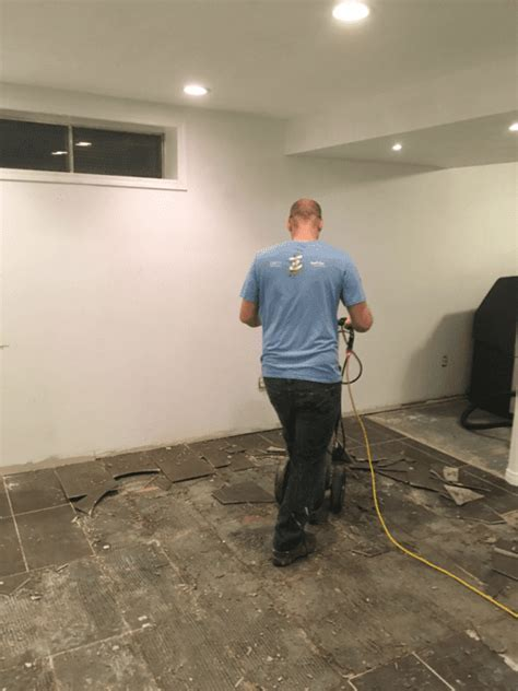 Basement flooring demolition   how to remove tile from