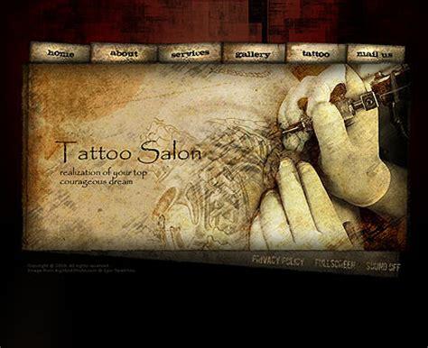 simple tattoo website tattoo salon flash template 110453 simple templates
