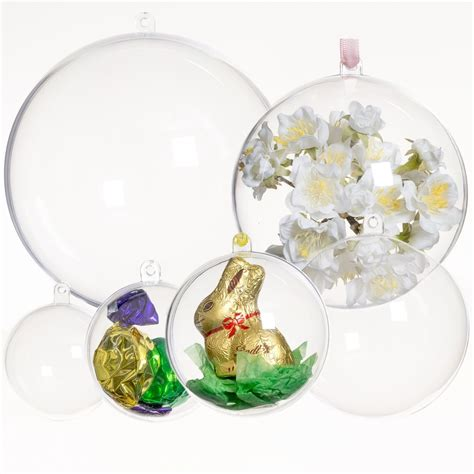 baubles craft clear acrylic baubles 5 pack 120mm autumn crafts from