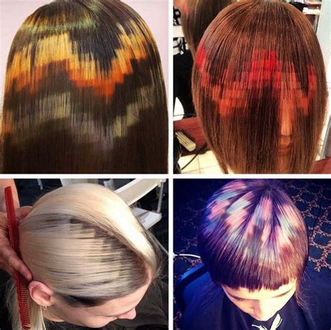 Pattern Hair Color | hair dye patterns pretty sweaty