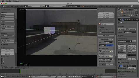 blender tutorial tracking camera 1 3 scene setup blender 2 6 tutorial static camera