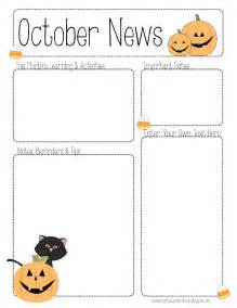 the crafty october newsletter template