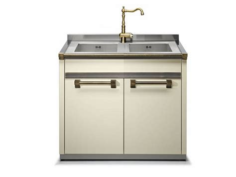 Metal Kitchen Sink Cabinet Unit Kitchen Sinks Free Standing Kitchen Sink Cabinet Amusing Gray Rectangle Modern Metal Free