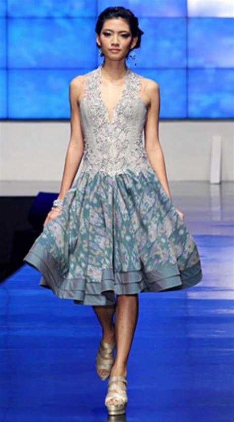 design batik brokat dress batik modern terbaru 2017 cantik anggun dan