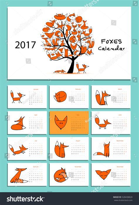funny bees calendar 2017 design stock vector image 81720022 funny foxes design calendar 2017 stock vector 528438820