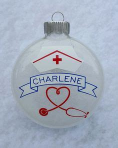 chrisymas nurse craft rn personalized ornament pink blue registered ornament silhouette cameo crafts