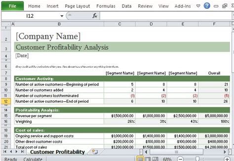 cost of sales template how to easily perform a customer profitability analysis in