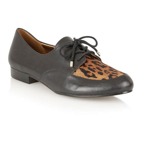 naturalizer shoes lara black leather cheetah