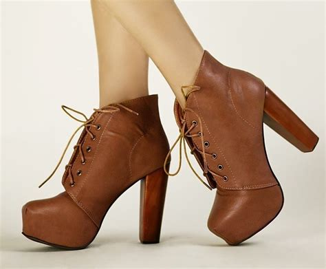 lace up ankle boots with heel fashion belief