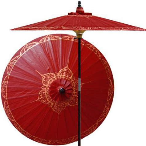 asian patio umbrella shop houzz decor siamese outdoor patio umbrella oxblood outdoor umbrellas
