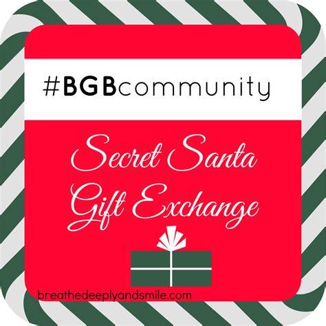 secret reveal breathe deeply and smile bgb secret santa gift exchange