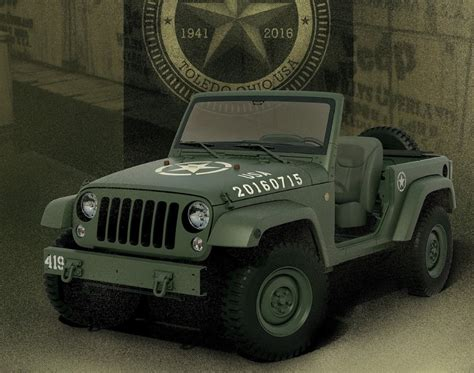 jeep wrangler military style jeep wrangler 75th salute military style for this