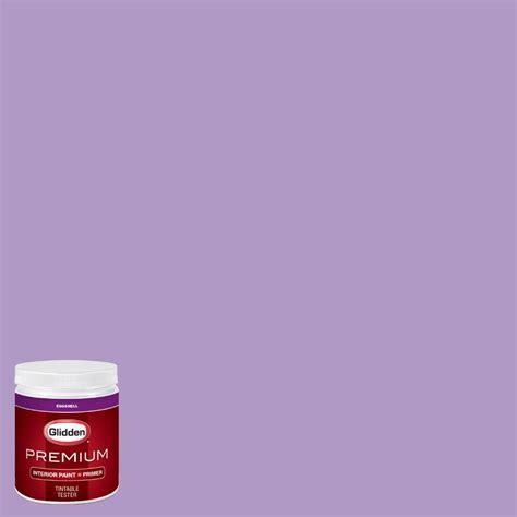 glidden premium 8 oz hdgv55d confetti purple eggshell interior paint with primer tester