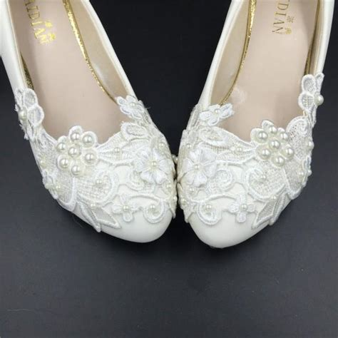 Wedding Shoes Usa by Ivory White Flower Wedding Shoes Lace Flowers