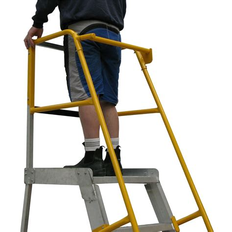 safety step stool bunnings gorilla order picker safety boom ladder accessory
