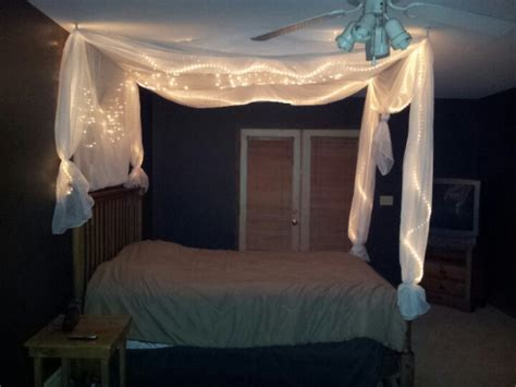 Diy Canopy Bed With Lights Diy Bed Light Canopy Diy Bed Canopy Posts Diy Bed And Bed Lights