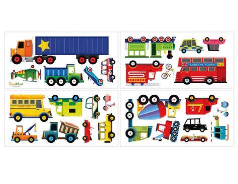 Sticker Kinderzimmer Autos by Wandsticker Lastkraftwagen Transporter Autos Wandsticker
