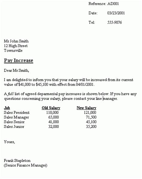 Justification Letter For Increase Of Salary Salary Increment Letter Format New Calendar Template Site