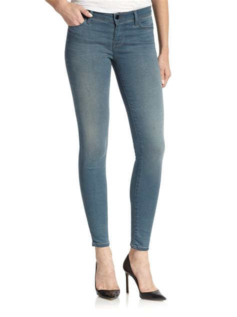 Low Rise lyst j brand low rise in blue
