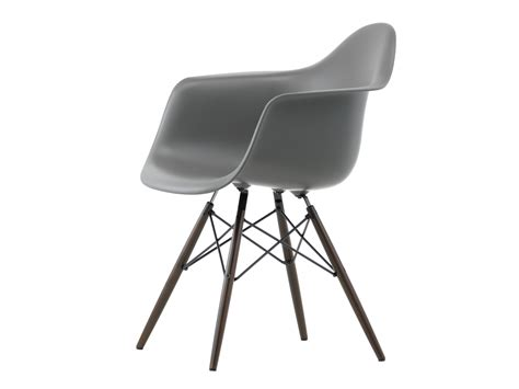 eames daw armchair buy the vitra daw eames plastic armchair dark maple base