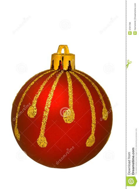 red christmas ornament isolated royalty free stock