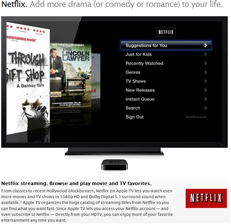 Can I Pay My Netflix Bill With A Gift Card - netflix us canada blog integrated itunes sign up 1080p hd on apple tv